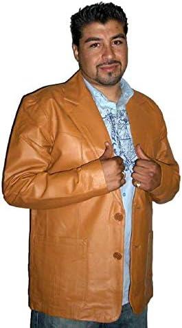 Men's Genuine Leather Continental Sports Blazer Mango Coat Handmade