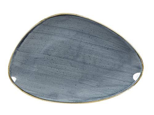 Churchill Stonecast Blueberry - Servizio da 6 piatti triangolari, 30,4 x 20,5 cm