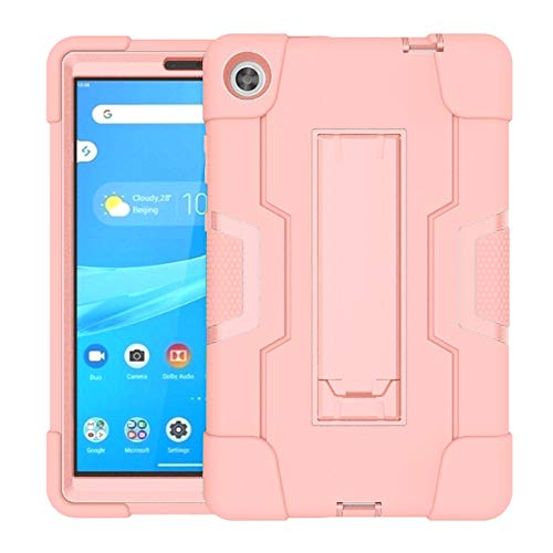 Koolbei Case for Lenovo Tab M8 Case,Heavy-Duty Drop-Proof and Shock-Resistant Rugged Hybrid case(with Built-in Stand),for Lenovo Tab M8 8.0 inch Tab Case(Rose Gold)