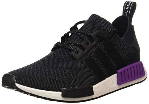 adidas Herren NMD_r1 Pk Gymnastikschuhe, Schwarz (Core Black/Core Black/Active Purple), 44 EU