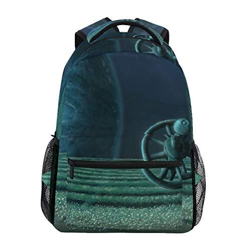 Zaino Moda Laptop Daypack Pianeti Orbitale Spazio Universo Viaggio Zaino per Donne Uomini Ragazza Ragazzo Scuola Borsa di Tela