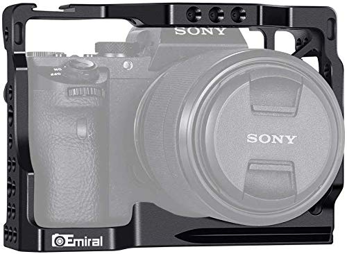 """Emiral Camera Cage for Sony A7/ A7Ⅱ with Built-in 1/4"""" and 3/8"""" Tripod Thread, Cold Shoes and Rosette Mount"""