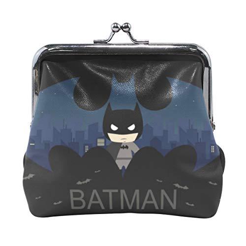 Tikismile Cartoon Batman - Monedero de Piel con Hebilla