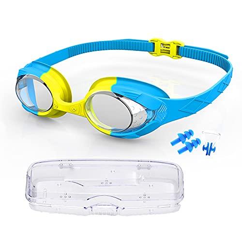 RBSFL Gafas Piscina Niños, Gafas Natacion Protección UV Antivaho sin Fugas, Gafas de Natacion Ajustable para Niño y Niña Junior 3-12 Años Gafas de Natación Accesorio para Piscina Infantil