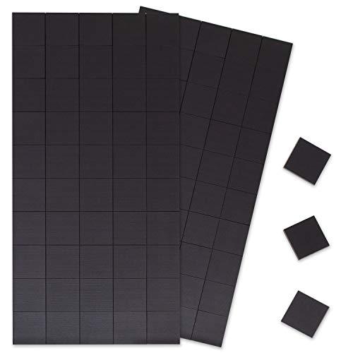 Cuadrados magnéticos: 100 pzas con imanes autoadhesivos con soporte para pizarras, refrigeradores,...