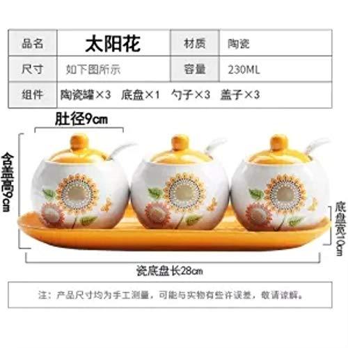 Gewürzgläser Creative Ceramic Seasoning Jar Dreiteiliger Anzug Küchenutensilien Gewürzbox Flasche Salzstreuer European Seasoning Bottle Set, 3-Teiliger Anzug4