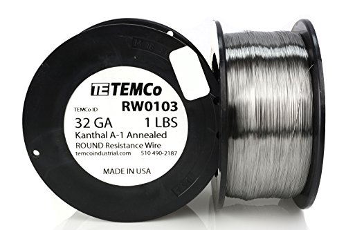 TEMCo Kanthal A1 wire 32 Gauge Resistance AWG A-1 ga