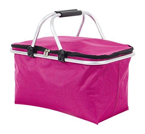 TLW direkt Einkaufskorb, Polyester, pink, 48 x 28 x 4 cm