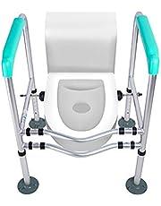 SYTH Estructura de Apoyo para Inodoro, Ayuda de Soporte de Marco de Seguridad para baño Independiente Altura Ajustable Ayuda para el Inodoro y Barra de Apoyo