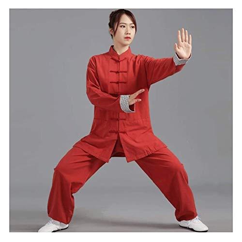 HLZY Uniformes Tradicionales Chinos de Tai Chi Kung Fu Tai Chi Ropa Hombres y Mujeres Ropa de Ejercicio Ropa de Ejercicio de Mediana Edad Tai Chi Ropa Algodón y Ropa de Cama