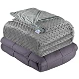 Quility Premium Adult Weighted Blanket & Removable Cover |...