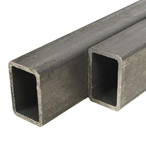 UnfadeMemory Tubo de Acero Rectangular para Soportar una Carga Pesada,Barras Huecas de Acero,Tubos de Sección de Caja,Acero Estructural (S235JR) (2uds-Longitud 100cm-60x40x3mm)