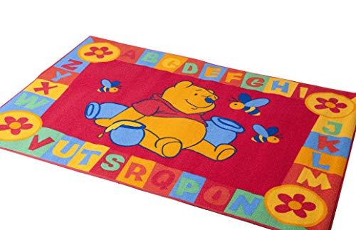 Lancashire Textiles Tapis de Jeu éducatif pour Enfant Motif Winnie l'ourson Rouge 95 x 133 cm
