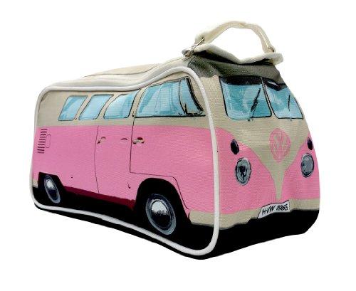 Unbekannt VW Bus T1 Kulturtasche rosa - Reise Kulturbeutel als hochwertige Geschenkidee