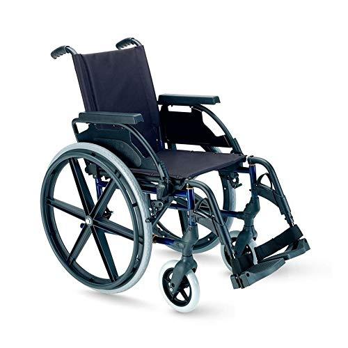 Breezy Premium-Rollstuhl, zusammenklappbar, mit Rädern, 61 cm (24 Zoll), 46 cm (46 Zoll), Grau
