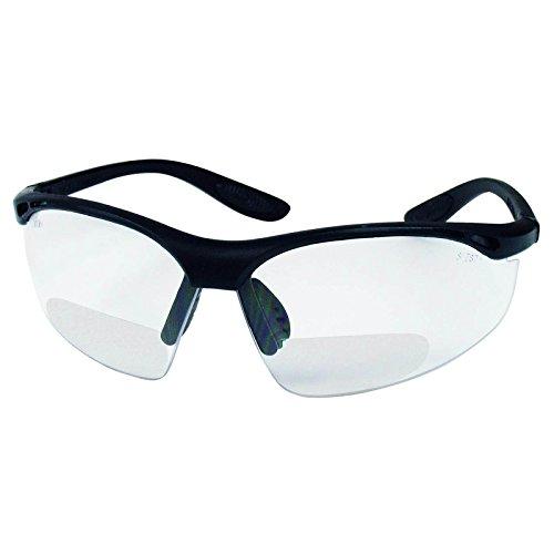 Schmerler Schutzbrille Modell 633 Bifocal - verschiedene Dioptrien, Sehstärke von 1,5 - 3,5 mit klarer Scheibe, beschlagfrei und kratzfest, Arbeitsschutzbrille mit Sehstärke, Variante:Dioptrien 1.5