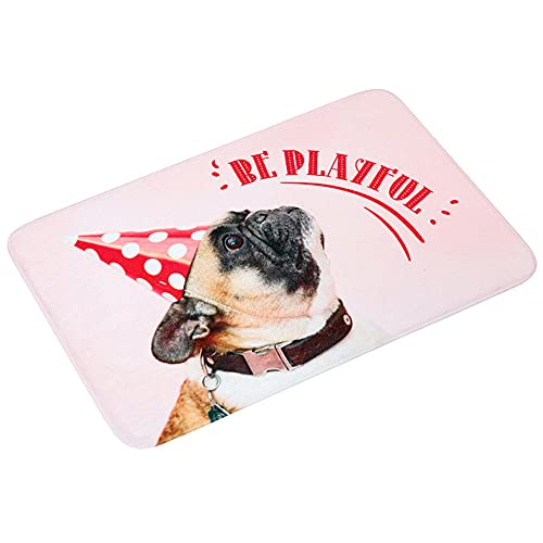 RUGS-YZ Washable Outside Door Mats Non-Slip 010 - Pink Water absorption kitchen mat, cartoon animal pattern bathroom door pad 50 * 80cm