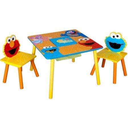Sesame Street Storage Table and Chairs Set, sesame street design