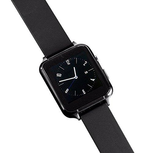 Goldence Schwarz Fitness Gurt Zubehör Smart Uhr für Damen Herren Unisex