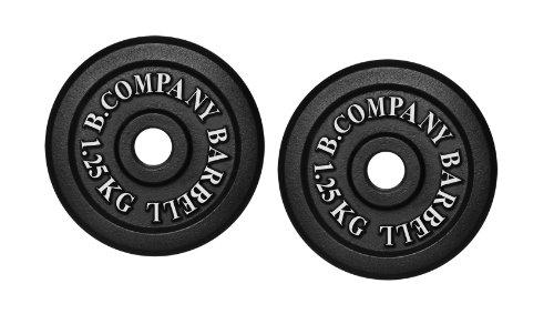 Bad Company I Hantelscheiben aus Gusseisen I Hantel Gewichte I 2,5 Kg (2 x 1,25 Kg), 30/31 mm