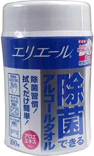 大王製紙 エリエール 除菌できるアルコールタオル ボトル100枚