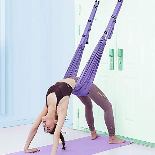 XiYee Yoga-Hängematte, Trapezschaukel Set, Yoga Schaukel Nylon Anti-Schwerkraft Hängematte Schlinge Inversion für Pilates Gymnastik, Training vertikal Schaukel Akrobatik Tuch Stoffe Zubehör