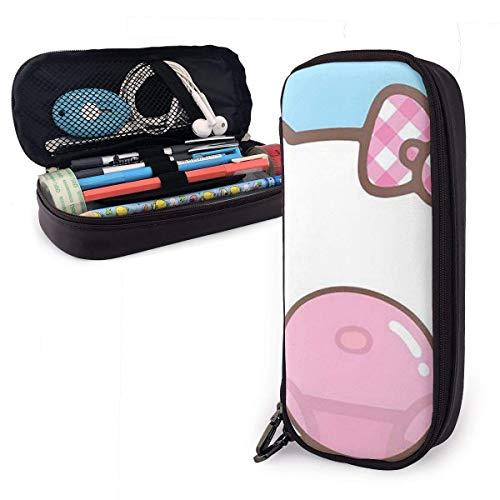 Federmäppchen Blasen Blasen Hello Kitty Federmäppchen Make-up Federbeutel Briefpapier mit Doppelreißverschluss Stifthalter für Schule/Büro