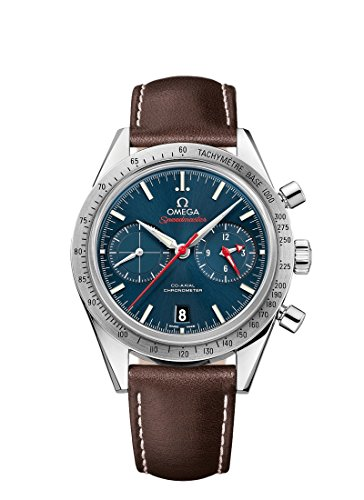 Omega Speedmaster 33112425103001 - Reloj automático de Piel marrón c