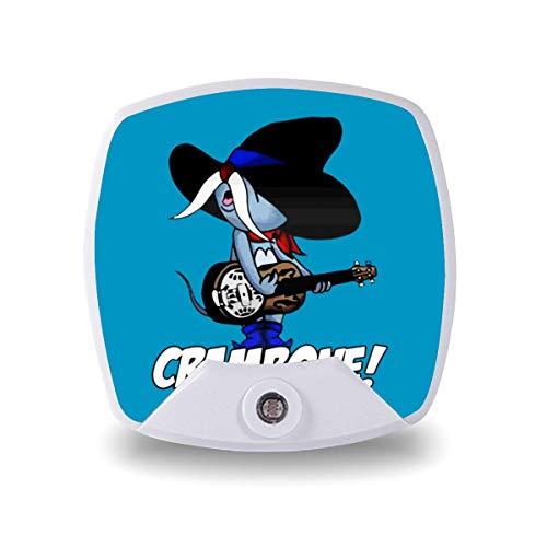 Crambone Uncle Pecos Fun Nightlight LED Plug-in luz nocturna, eficiente energéticamente, calmante