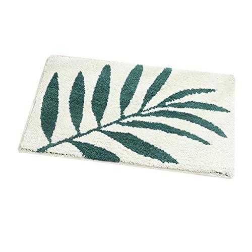 Big Sales Calvinbi Alfombra para piso con diseño de hojas de calvinbi, alfombra suave al tacto para puerta de baño, absorbente de agua, alfombrilla antideslizante, B1, talla única