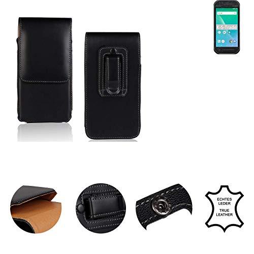 K-S-Trade® Holster Gürtel Tasche Für Panasonic Toughbook P-01K Handy Hülle Leder Schwarz, 1x