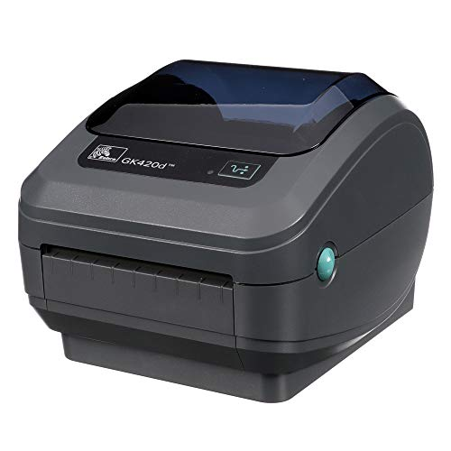 Zebra GK420d Direct Thermal Desktop Printer Print Width of 4 in USB Serial and Parallel Port Connectivity GK42-202510-000
