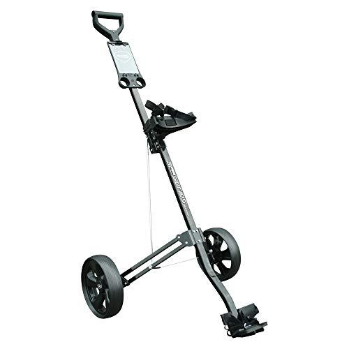 Masters 3 Golftrolley aus Aluminium, Schwarz