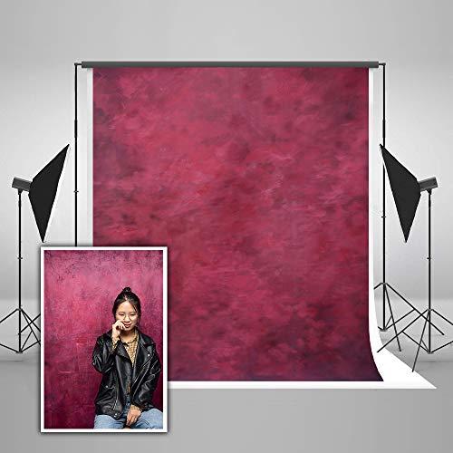 KateHome PHOTOSTUDIOS 2x3m Fondale Fotografico Rosso Microfiber Astratto Sfondo Fotografico Fondali Fotografici Professionali