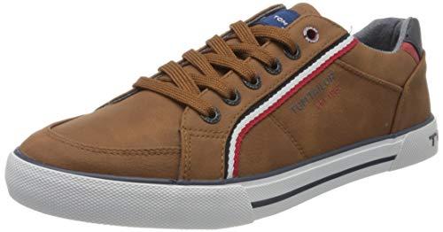 TOM TAILOR Herren 8080809 Sneaker, Braun (Cognac 00205), 44 EU