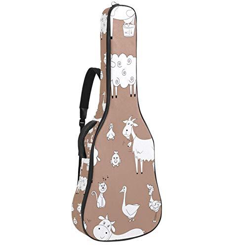 Funda de Guitarra Electrica Acolchada Universal Acolchada Guitarra Acústica y Clásica con...