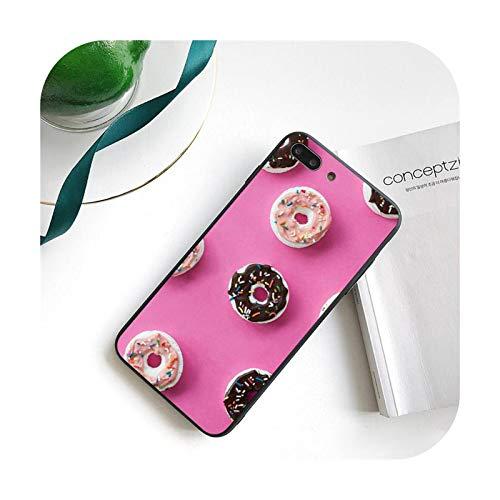 Food Donut teléfono caso para iPhone 11 8 7 6 6S Plus 7 Plus 8 Plus X XS MAX 5 5S XR 12 11 Pro Max se 2020 Funda Cover-a12-Para iphone5 5s SE