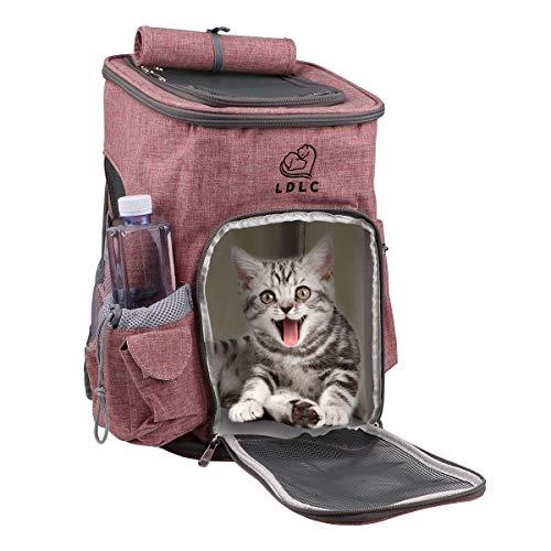 Makerfire Sac à Dos de Transport pour Chien et Chat pour Animal de Compagnie Pet Carrier pour Petit Pet en Plein Air Randonnée Camping