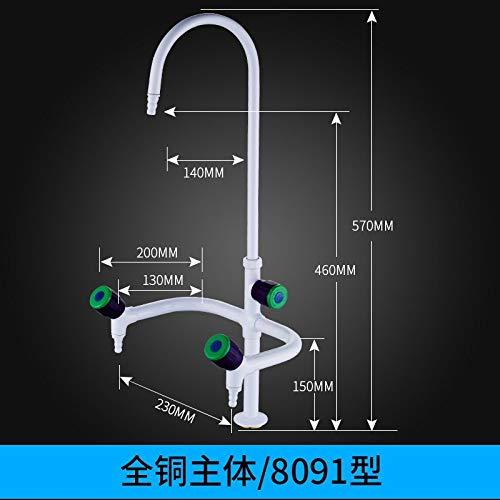 ZHAOSHOP Labor Wasserhahn dreifache Wasserdüse Test Wasserhahn drei Schwanenhals Rost Tisch Operation Küche Edelstahlrahmen Abtropfgestell