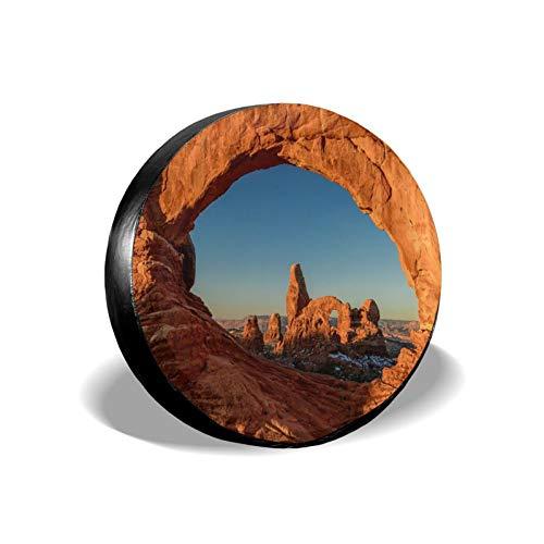 Cubierta universal para neumáticos de Earth Mountain Universe Hill con protección UV duradera para rueda de repuesto, para remolques, caravanas, vehículos todoterrenos, vehículos de 47 cm
