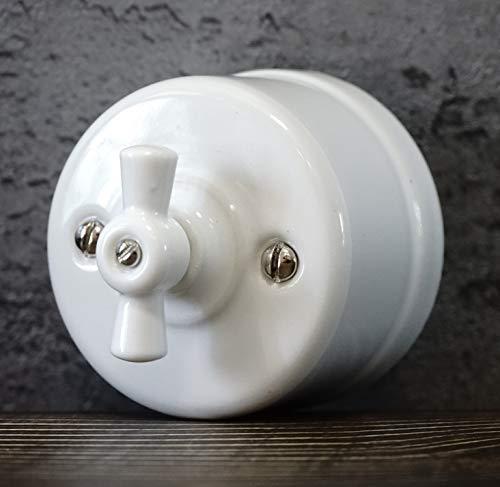 Interruptores de Luz Vintage Retro one gang double way 250V,10A