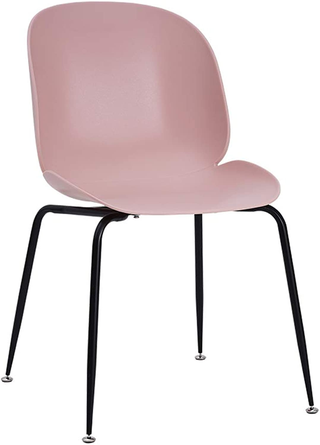 CXQ Nordic Fashion Modern Style Casual Simple Home Pink Dining Chair Living Room Stool Back Chair