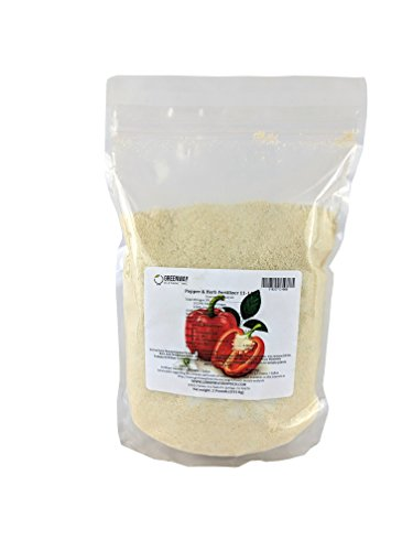Pepper and Herb Fertilizer 11-11-40 Powder 100% Water Soluble Plus Micro Nutrients and Trace Minerals Greenway Biotech Brand 1 Pound (Makes 200 Gallons)