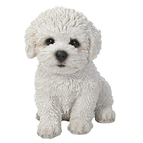 Vivid Arts bichon puppy sculpture blanc