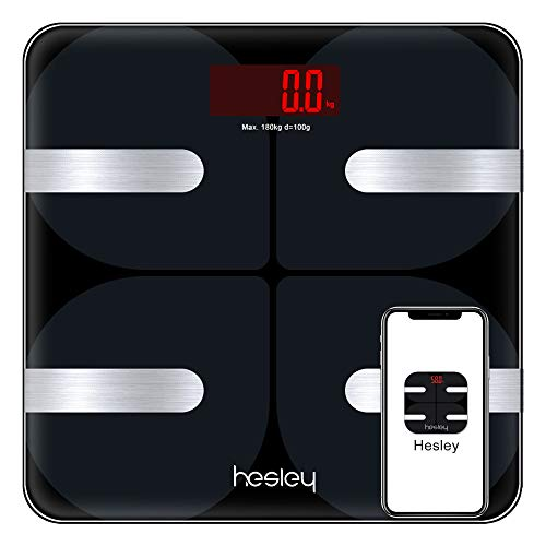 HESLEY Premium Smart Bluetooth Body Fat Weighing Scale with...