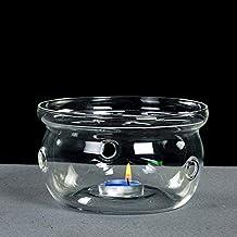 Sun's Tea Ultra Clear Universal Borosilicate Glass Tea Warmer | Tea Warmer (Size - 4.5 in / 12 cm Diameter)