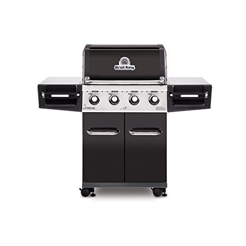 Broil King 956214 Regal 420 Pro Gas Grill, Four-Burner, Black Porcelain