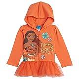 Disney Princess Moana Toddler Girls Zip-Up Long Sleeve Hoodie Orange 4T
