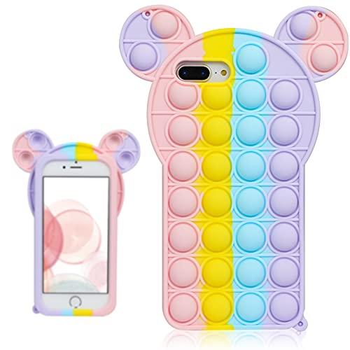 Besoar Color Mouse Fidget Case for iPhone 6 Plus/6S Plus/7 Plus/8 Plus 5.5'...