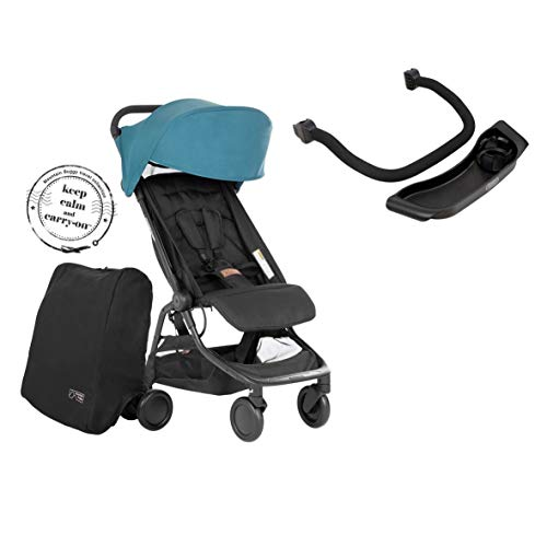 Mountain Buggy Nano V3 (2020+) Kinderwagen in der Farbe teal inkl. Reisetasche + Bügel + Tablett